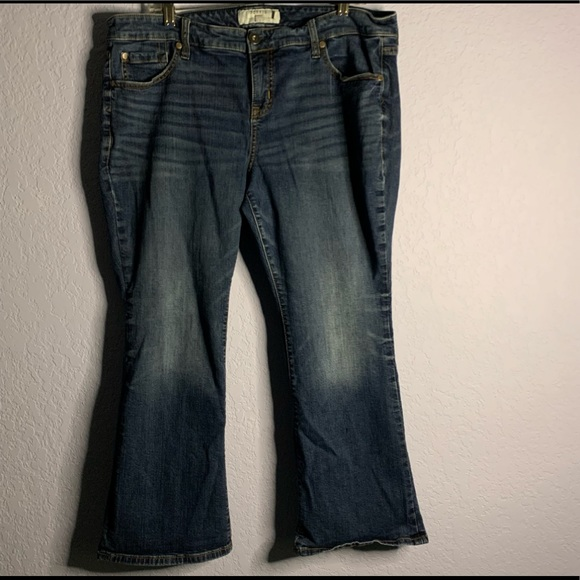 Torrid Women Blue Slim Boot Cut Jeans